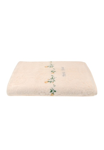 Charles Millen yellow SET OF 2 SUZANNE SOBELLE by CHARLES MILLEN Petite Rose - Bath Towel 65x130cm/336g. BBDA9HLED81A26GS_1
