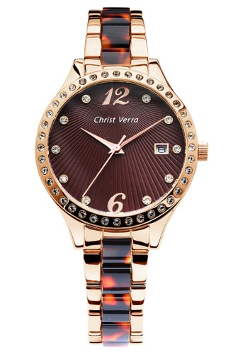 Christ Verra multi and brown Fashion Women's Watches CV 70069L-15 BRN 2BCC4AC476DBB0GS_1