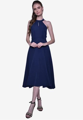 Caoros blue Halter Dress CDC28AA901581EGS_1