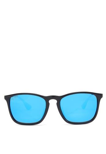 Ray-Ban Chris  RB4187 Sunglasses RA370GL55GPGSG_1