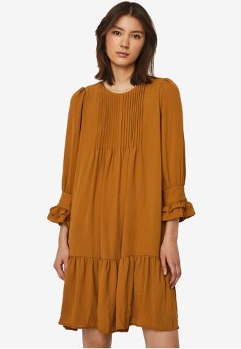 Vero Moda brown Zigga Frill Mini Dress D9F1AAA9A68CABGS_1
