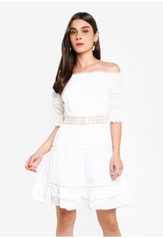 72ed618c79 River Island white Long Sleeve Panta Waisted Bardot Dress FC82AAA009D6ACGS_1