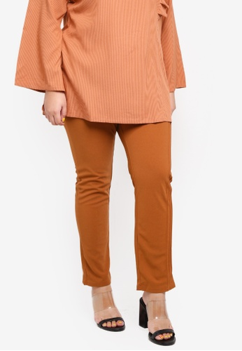 a0f1641e341 Buy Gene Martino Plus Size Side Pleat Pants Online on ZALORA Singapore