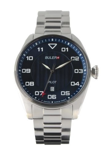 Buler blue and silver Buler Sport Watch - Blue - Gents - Date- 3H BU689AC2VG1DHK_1