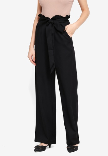 Lubna black Paperbag Trousers 11532AA29D000DGS_1