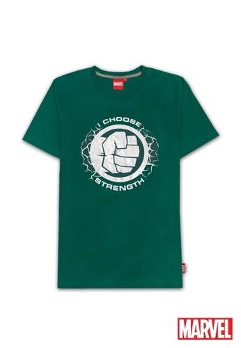 MARVEL green Marvel Genuine Men Avengers Short Sleeve T Shirt VIM19627-GREEN BD6A1AA79902D9GS_1