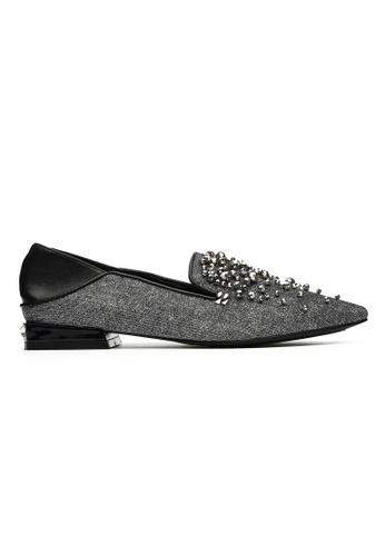 Byford grey Padin - Pointed Toe Paneled Flats 6A676SH75490EAGS_1