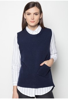Pocketed Sleeveless Knit