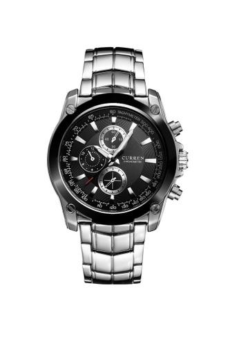 curren black Curren 8025 Men's Business Casual Stainless Steel Classic Watch (Black) CU537AC81TCGMY_1