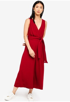7ea11f533ed Sizes 6 8 12 14 · French Connection red Bessie Crepe Sleeveless Jumpsuit  794BDAADBFBFD8GS 1