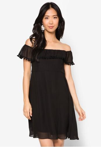 Jasmine 露肩esprit 台中小圓球洋裝, 服飾, 洋裝