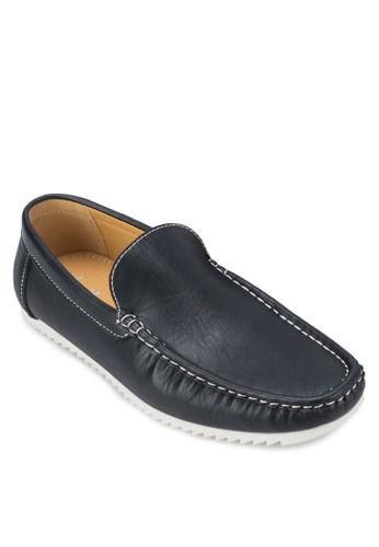 撞色仿皮樂zalora鞋福鞋, 鞋, 船型鞋