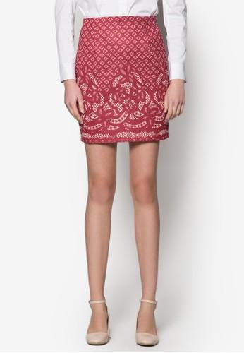 Tara 蕾絲印花窄管esprit 請人短裙, 服飾, 服飾