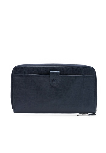 Faire Leather Co. blue and navy Specter CG Travel Wallet (Navy) - Travel Leather Accessories 39DB3ACB633159GS_1