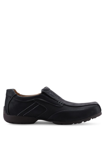 Louis Cuppers black Faux Leather Slip Ons 9E995SHE60EB69GS_1