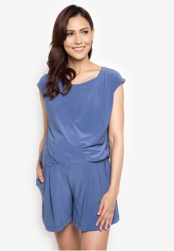 Mamaway blue Wrap Front Maternity and Nursing Jumpsuit MA263AA37TFQPH_1