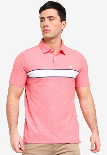 Banana Republic red Branded Chest Striped Polo Shirt 773D2AAA8EB5B2GS_1