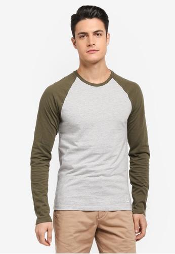 Jack Wills green Audley Long Sleeve T-shirt D8E51AA3597755GS_1