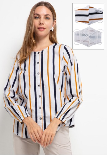 Expand yellow and multi Ametta Blouse 90B64AA02BCC99GS_1