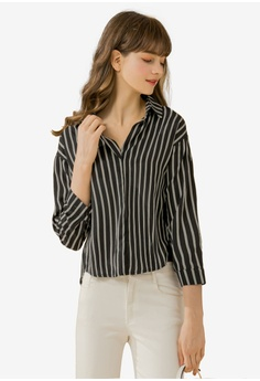 d2f478070822e Eyescream black Minimalist Stripe Shirt 0596FAA80870F8GS 1