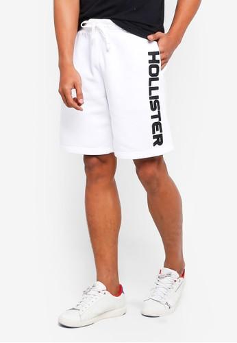 Hollister white Sport Shorts 94D08AAFF75448GS_1