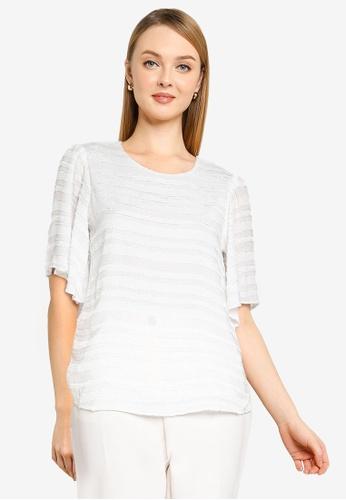 Dorothy Perkins white Ivory Textured Plain Tee D333EAA45B3681GS_1