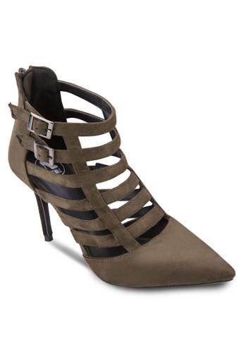 鳥zalora 心得籠鏤空高跟踝靴, 女鞋, 鞋