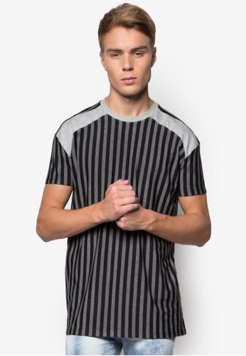 色塊條紋圓領TEE, 服飾,esprit hk T恤