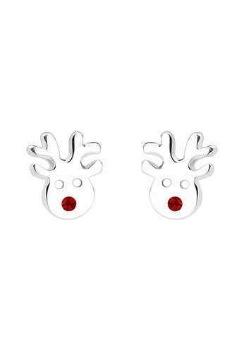 Elli Germany silver Earring Rudolph Reindeer 925 Sterling Silver EL474AC0SEUXMY_1