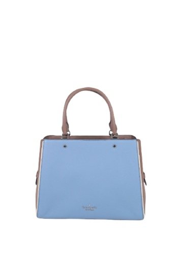 Kate Spade blue Kate Spade Medium Leila Colorblock WKR00326 Triple Compartment Satchel Bag In BalticSeaMulti EF6FEAC83056D0GS_1