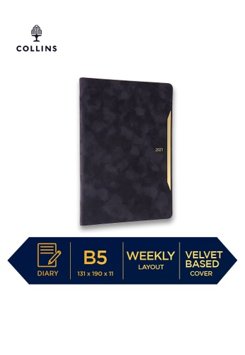 Collins navy Collins Diva ─ 2021 Calendar Year Diary ─ Navy ─ B5 Week to View B776AHL2A6CE5AGS_1