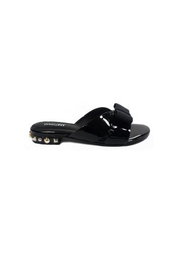prettyFIT black Black Ribbon Slide Sandals HQ-1732 PR787SH0FSSLSG_1