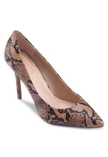 GEMINI2 鱷魚紋尖頭高跟鞋, esprit outlet 台灣女鞋, 鞋
