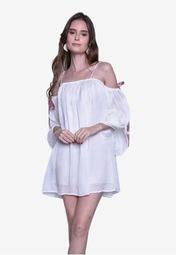 Caoros white Off-Shoulder Baby Doll Mini Dress 01D79AA04EDC94GS_1
