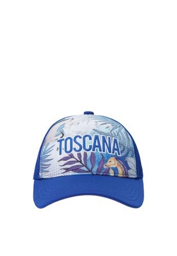 """FILA blue FILA KIDS """"TOSCANA"""" Theme Print Cap 7E44CKC5268856GS_1"""