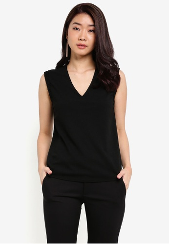 ZALORA black Essential Lace Detail Sleeve Top 92759ZZ626CC41GS_1