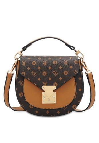 PLAYBOY BUNNY brown Women's Sling Bag / Shoulder Bag / Crossbody Bag AFEE1ACF85F763GS_1
