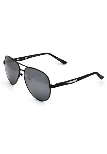jojo black Aviator Silver Side Polarized Sunglasses 7EEEEGL1683125GS_1