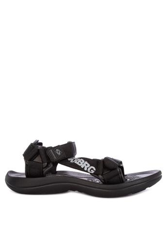 Krooberg black Roam Sandals & Flip Flops BE404SHDB356BFGS_1