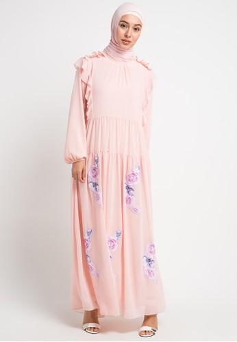 Kamilaa by Itang Yunasz pink Gamis Bordir E4990AAC842031GS_1