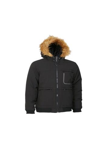 Universal Traveller black Universal Traveller Padding Jacket With Reflective Print - PJ 9024 3197CAA46781CEGS_1