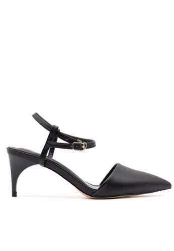 Twenty Eight Shoes 黑色 中跟尖頭踝帶鞋 VS1781 TW446SH75QEIHK_1