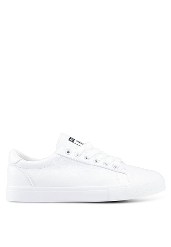 Twenty Eight Shoes white Synthetic Leather Basic Lace Up Sneakers EB18FSH6D5BF69GS_1