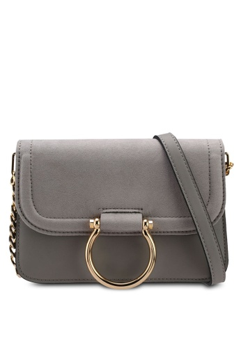 TOPSHOP grey New Remy Trophy Cross Body Bag AACB9AC8872FB7GS_1