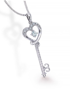 20 Off Mabelle 18k 750 White Gold Diamond Key Heart Pendant With Free Silver Necklace Hk 3 700 00 Now 2 960 Sizes One Size