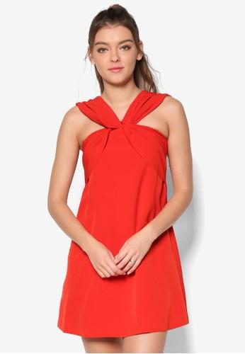 交叉帶寬擺連身裙, 服飾, esprit outlet 旺角洋裝