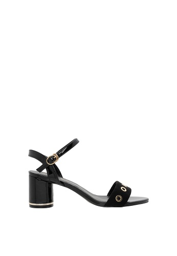 SEMBONIA black Women Synthetic Leather Heeled Sandal 761F9SHAD57428GS_1