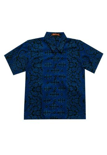 Adikusuma blue Hem Boy Batik Cumikan 900A7KAF6AB180GS_1