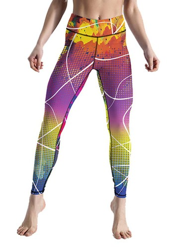 Lasona orange Women Sport Full Length Leggings D03BFAA2B2DAAEGS_1