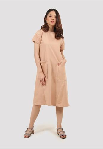MISSISSIPPI brown Dress Maxi Wanita A05590M Mocca 7EC17AA735D418GS_1
